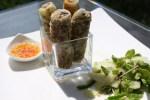 Жареные спринг роллы с грибами и овощами