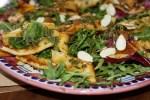 Салат из жареных кальмаров