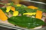 Белуга в маринаде из морской соли с травами и цедрой цитрусовых