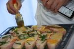 Подготовка белуги к обжарке в духовке
