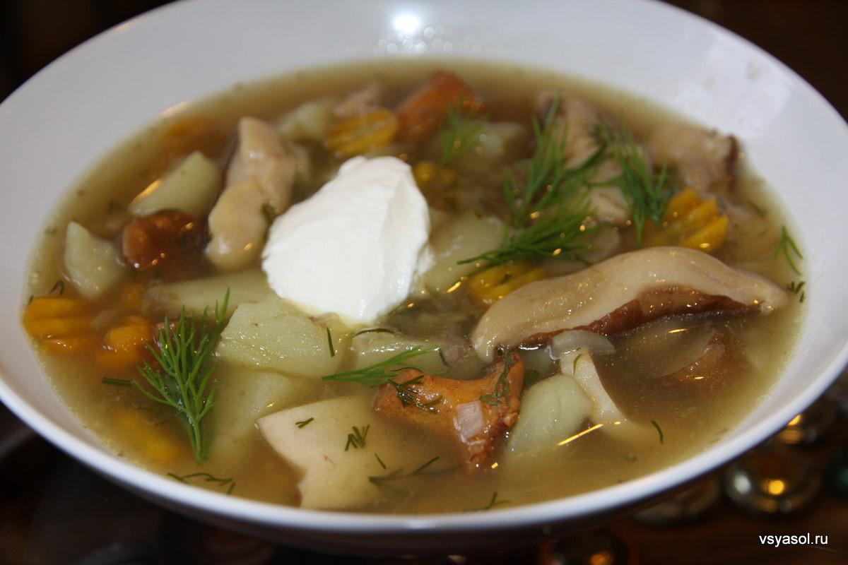 Суп из шампиньонов свежих с лапшой