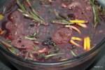 Вырезка оленя в маринаде