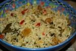 Рис с изюмом и овощами