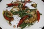 Салат из кабачков и зеленой фасоли