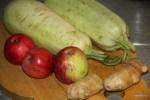 Кабачки, имбирь и  яблоки для джема