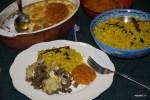 Желтый рис с боботи и чатни из кураги