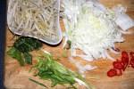 Ингредиенты для китайского супа с рыбными шариками