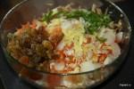 Малайзийский салат из недозрелой папайи пока без заправки