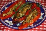 Перцы романо, запеченные с сыром