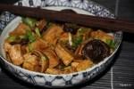 Корейская закуска из тофу с шиитаке