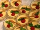 Крем-десерт ваниль с малиной