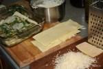 Процесс приготовления лазаньи
