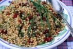 Салат с птитимом и запеченным перцем