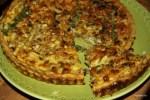 Пирог из каштанов с карамелизированным луком