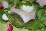 Закуска из перепелиных яиц с ветчиной
