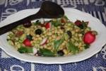 Салат с белой фасолью и редиской