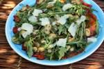 Салат из печеных перцев с анчоусами