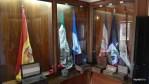 Флаги и земля открытых испанцами стран Латинской Америки