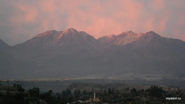 Закат в Арекипе