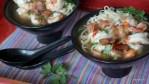 Малайзийский суп с креветками и лапшей