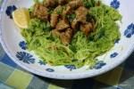 Спагетти из кабачка с филе индейки
