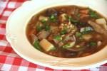 Суп из белых грибов с полбой