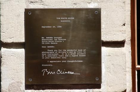 Биллу Клинтону понравился ресторан Les Armures