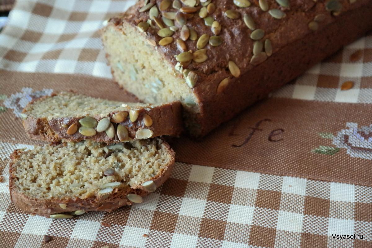 Домашний хлеб из полбы с тыквенными семечками