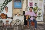 Греческие музыканты в таверне  Ханьи, Крит