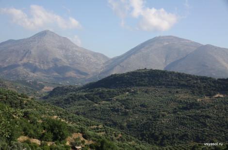 Крит, оливковые рощи в горах