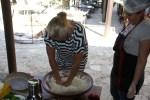 Помогаю Ставруле месить хлеб