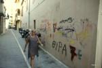 Все исторические стены Ретимно исписаны граффити