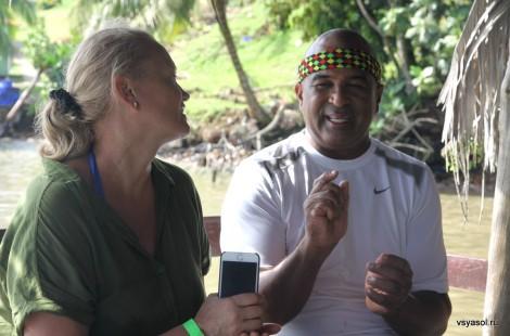 С Маурисио Лопесом Брауном на острове Бастиментос, Панама