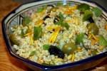 Булгур с изюмом и оливками