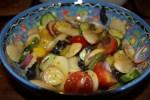 Салат из гигантской белой фасоли