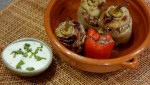 Перцы, фаршированные бараниной и рисом