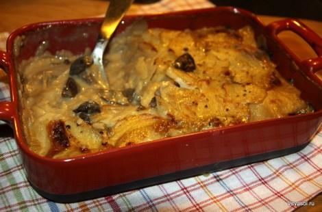 Картофельный гратен с белыми грибами