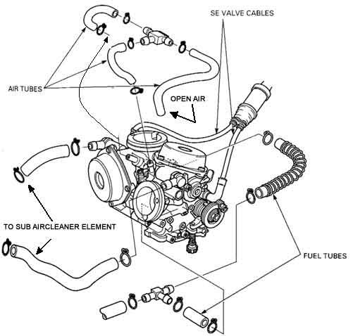 0107 HONDA SHADOW SPIRIT 750 VT750DC CARBS t