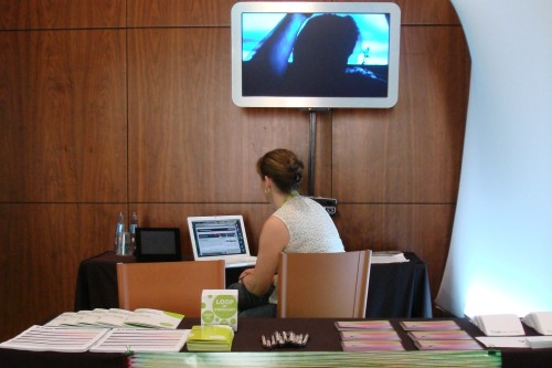 Vtape booth at the LOOP Fair, Barcelona, 2009