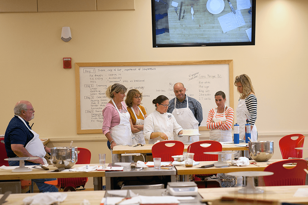 Image of students in a baking class