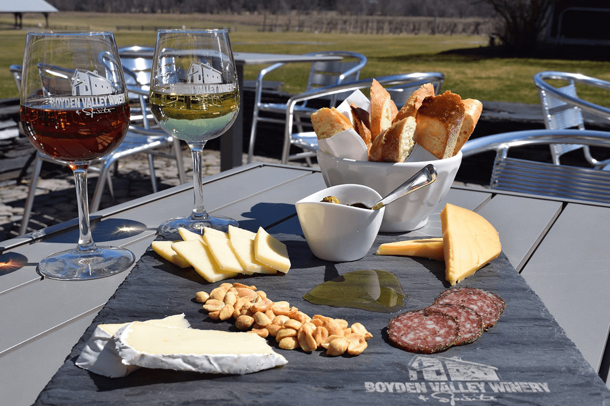 Image of a cheeseboard spread