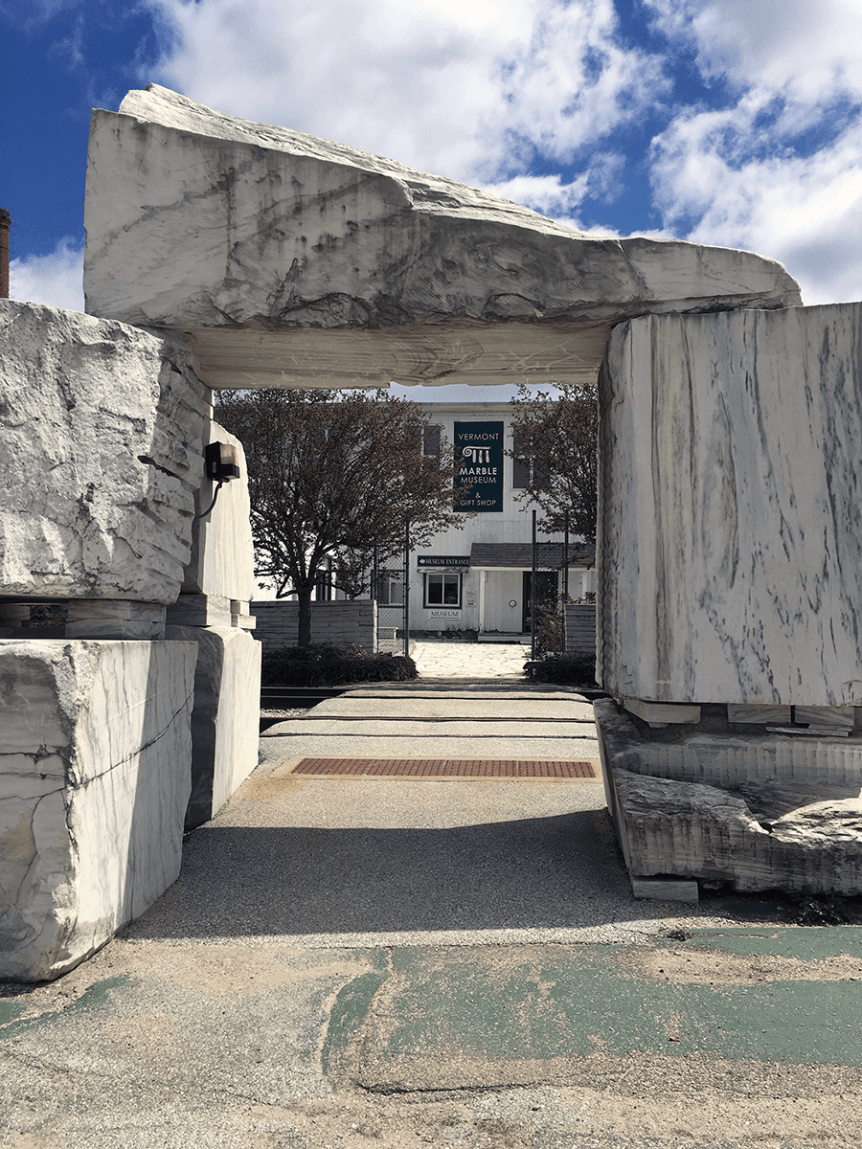 Image of entrance to Vermont Marble Museum