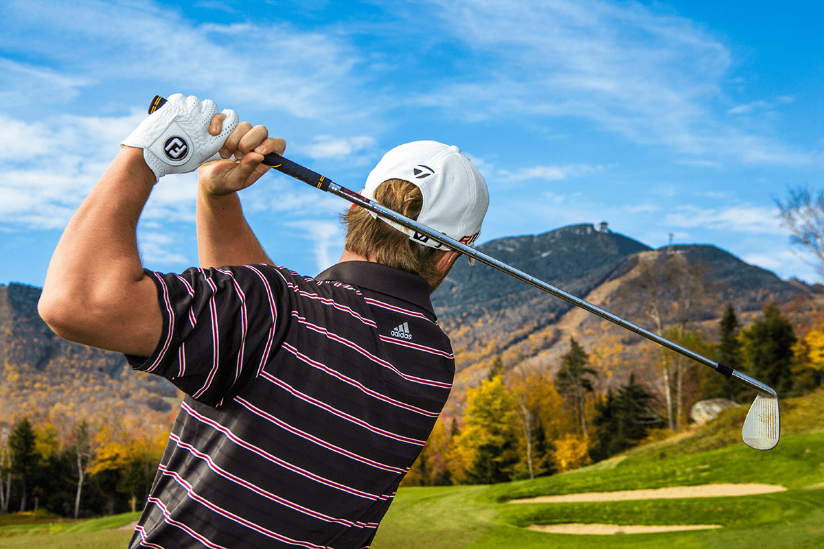 Image of golfer at Jay Peak Resort