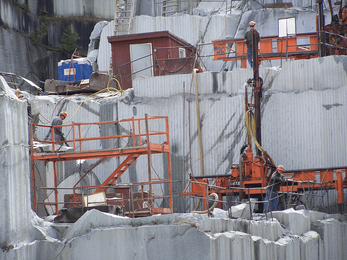 Image of quarry workers