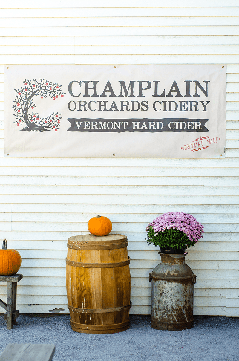 Image of Champlain Orchards Hard Cider sign