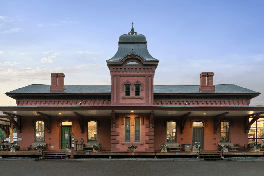 Image of the train station where Green Mountain Coffee Cafe is located