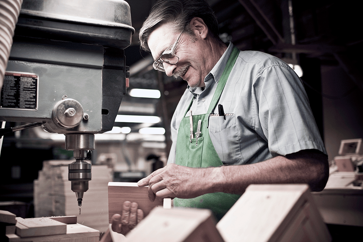 Image of worker at Maple Landmark Woodcraft