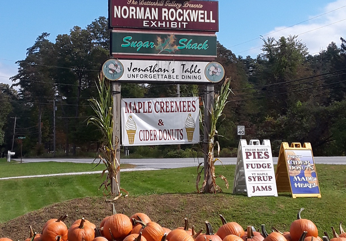 Image of the sign at Norman Rockwell Exhibition