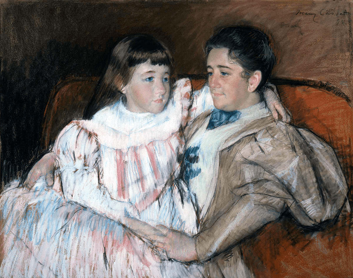 Painting of Cassatt Louisine Havemeyer and Her Daughter Electra 1996-46 at Shelburne Museum
