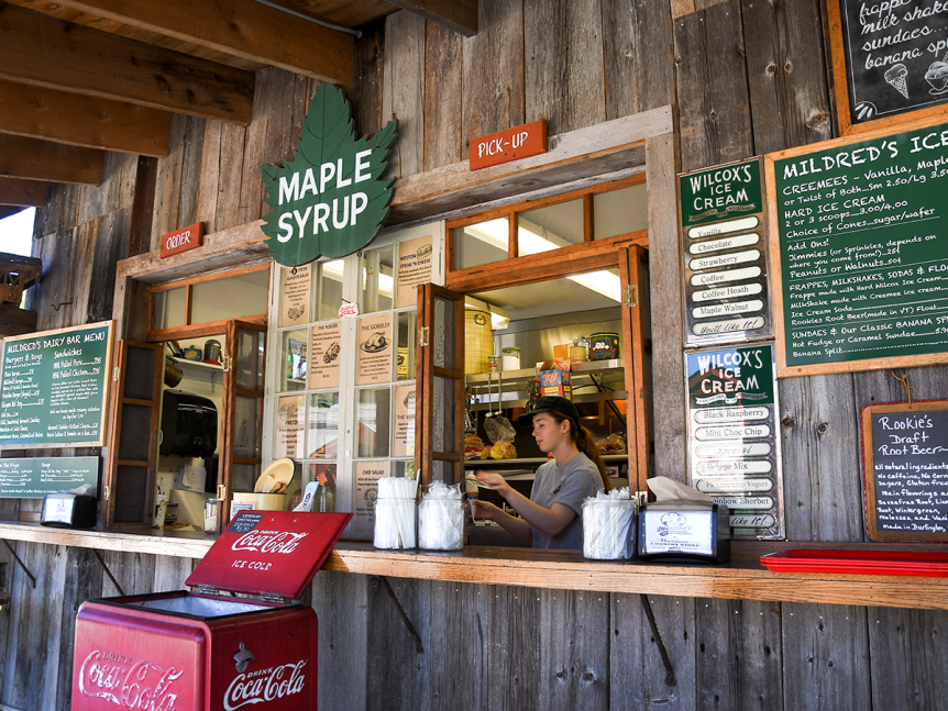 Image of the dairy bar at Vermont Country Store